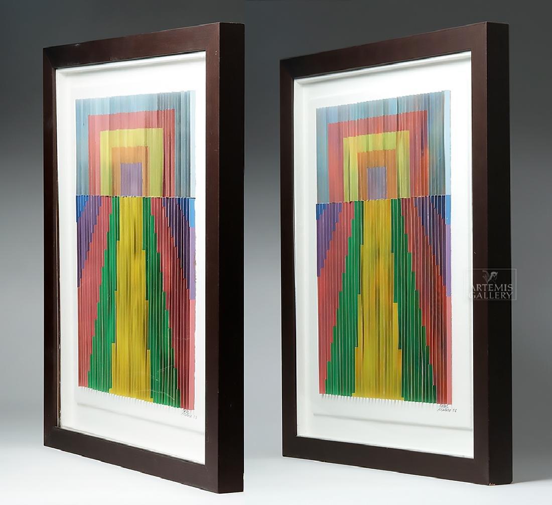 Perez Frelero Framed Mixed Media Works, 2002 (pr) - 3
