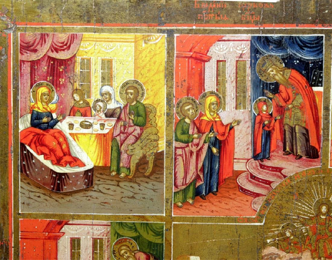Early 19th C. Russian Icon - Resurrection & Feasts - 2