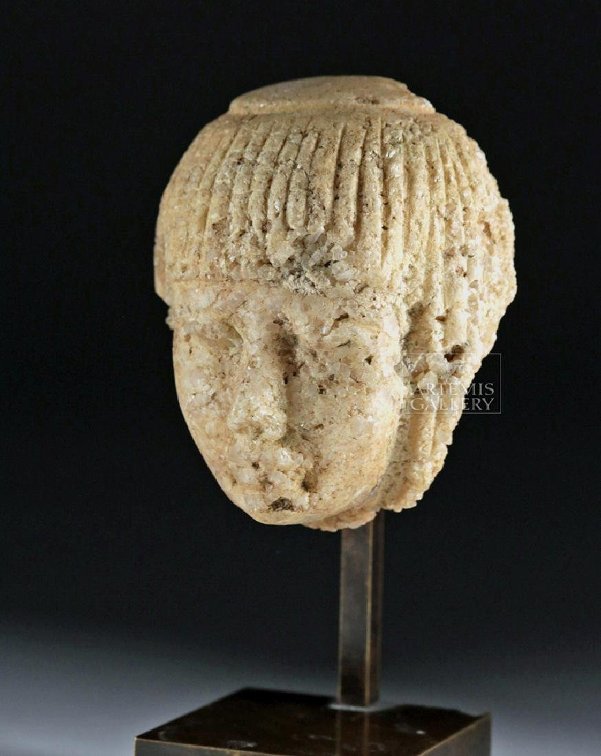 Finely Carved Egyptian Marble Head of an Official