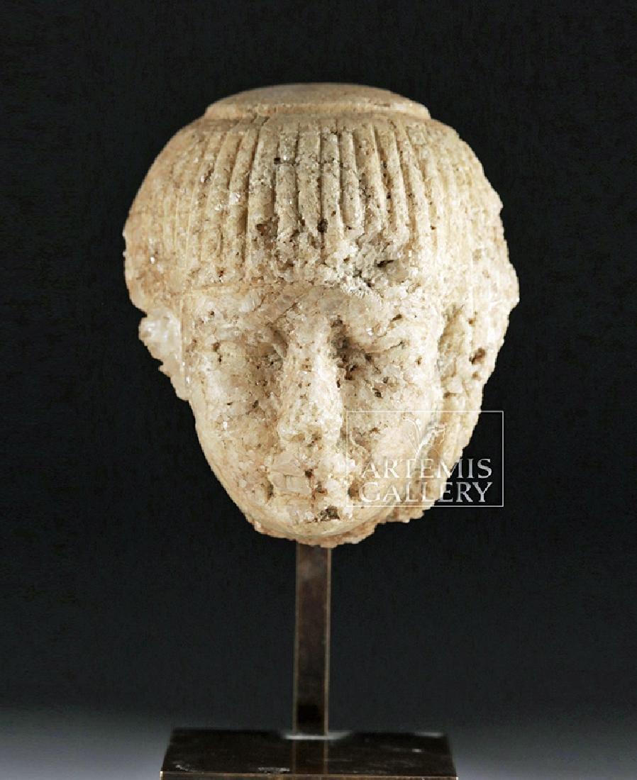 Finely Carved Egyptian Marble Head of an Official - 2