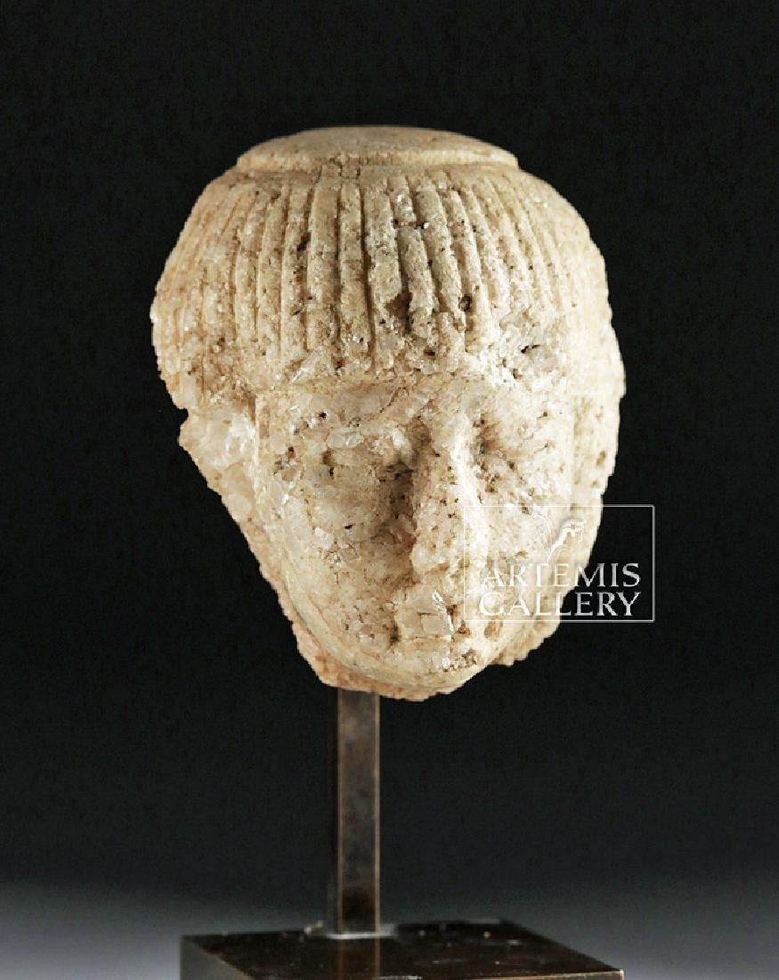 Finely Carved Egyptian Marble Head of an Official - 5
