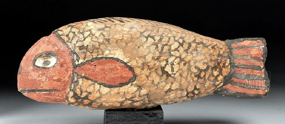 Egyptian Late Dynastic Gesso / Wood Fish