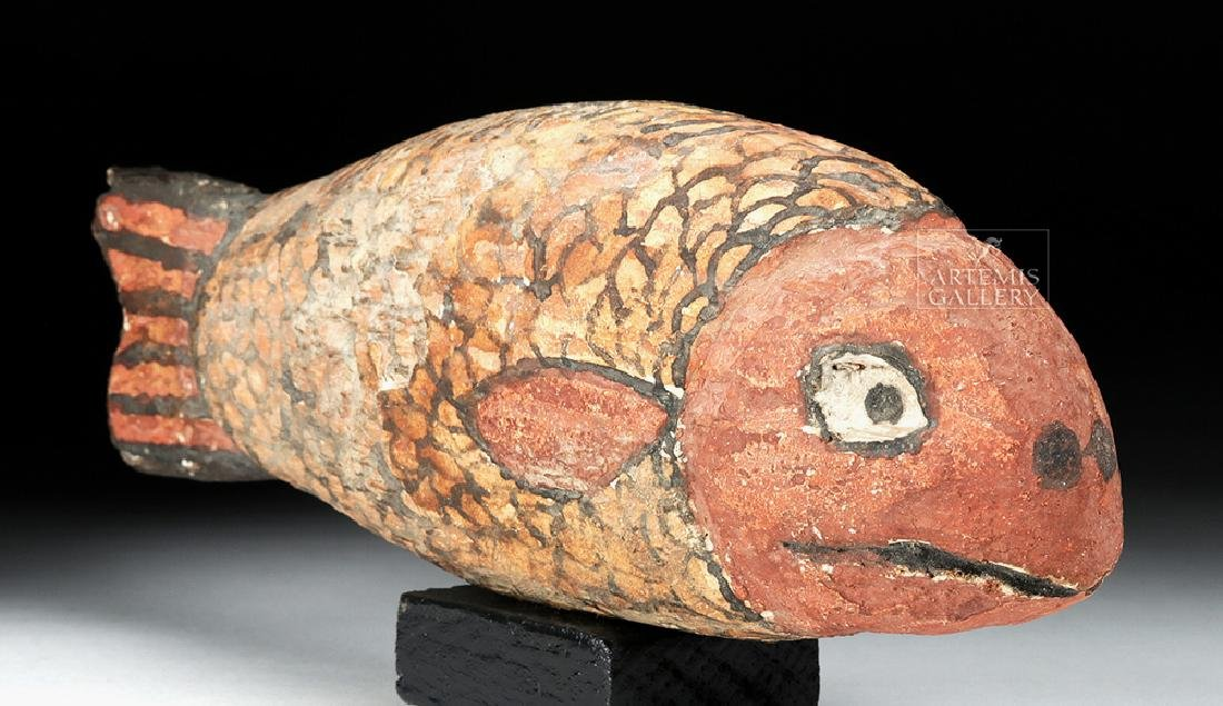 Egyptian Late Dynastic Gesso / Wood Fish - 3