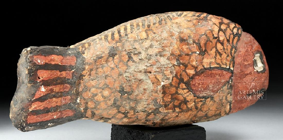 Egyptian Late Dynastic Gesso / Wood Fish - 4