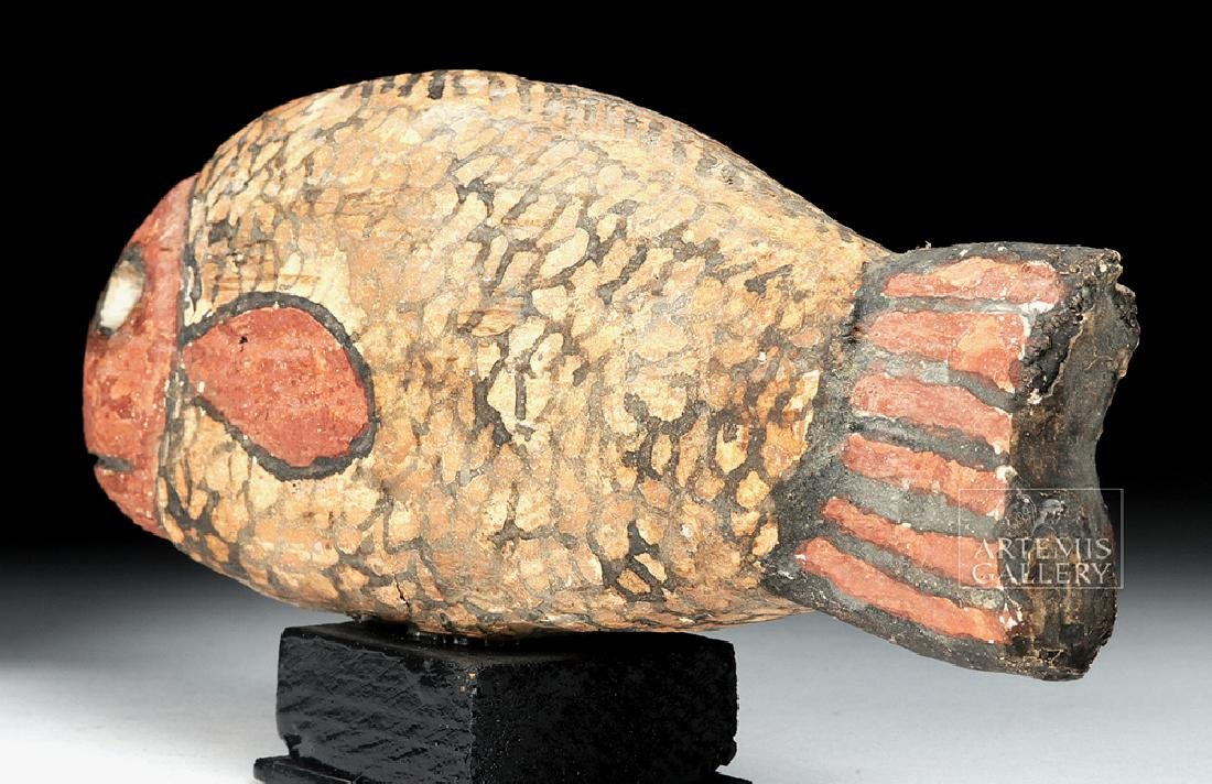 Egyptian Late Dynastic Gesso / Wood Fish - 5