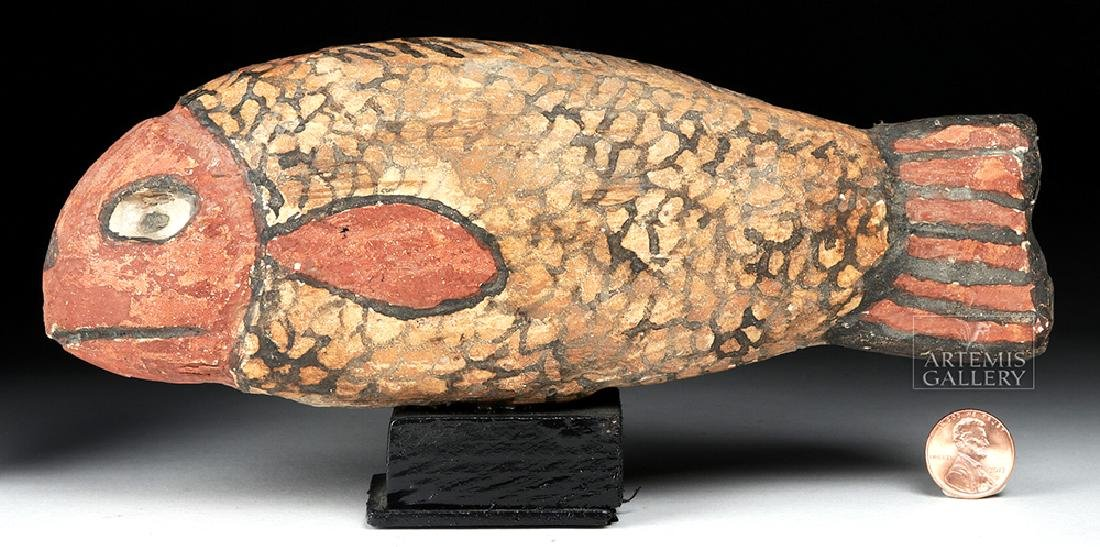 Egyptian Late Dynastic Gesso / Wood Fish - 6
