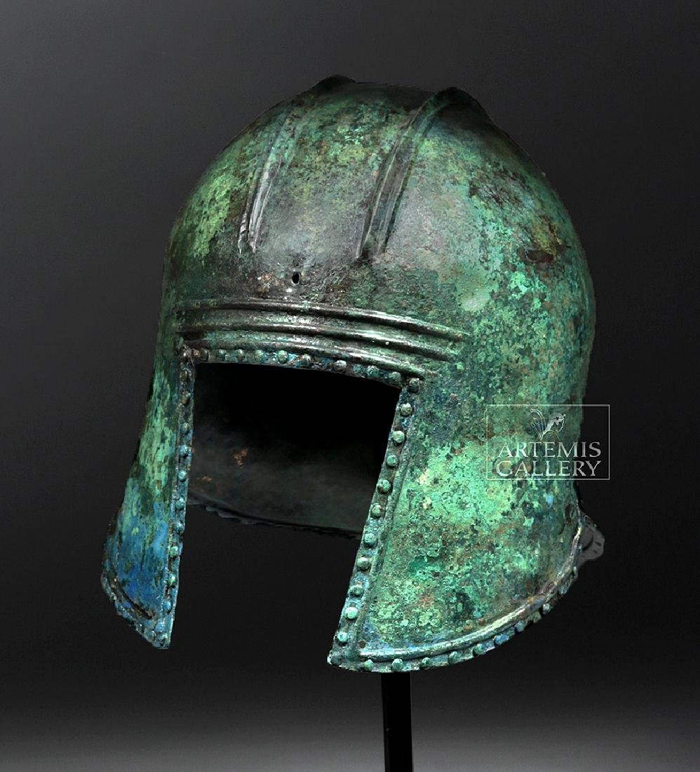 Greek Illyrian Bronze Hoplite Helmet w/ Art Loss Cert. - 2