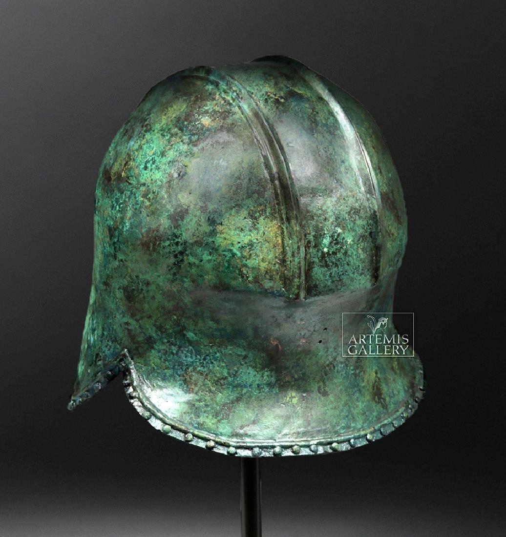 Greek Illyrian Bronze Hoplite Helmet w/ Art Loss Cert. - 6
