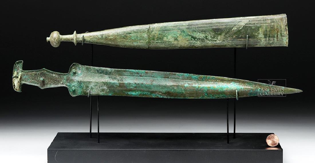 Important Etruscan Bronze Sword & Sheath, ex-Guttmann - 3