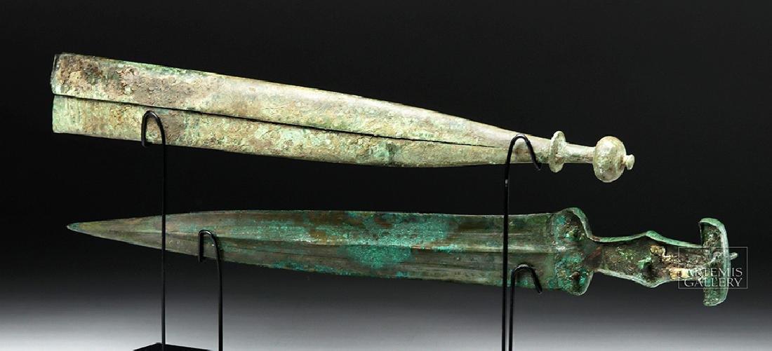 Important Etruscan Bronze Sword & Sheath, ex-Guttmann - 5