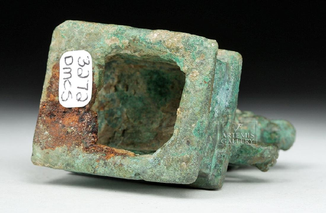 Roman Bronze Recumbent Lion on Plinth - 7