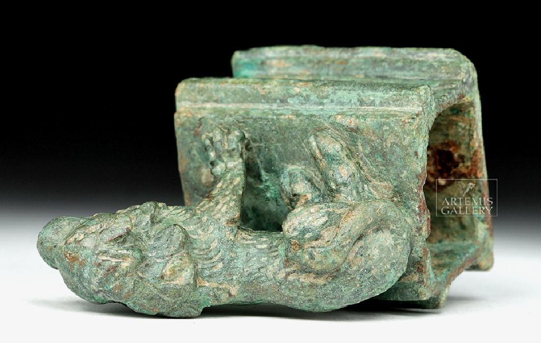 Roman Bronze Recumbent Lion on Plinth - 8
