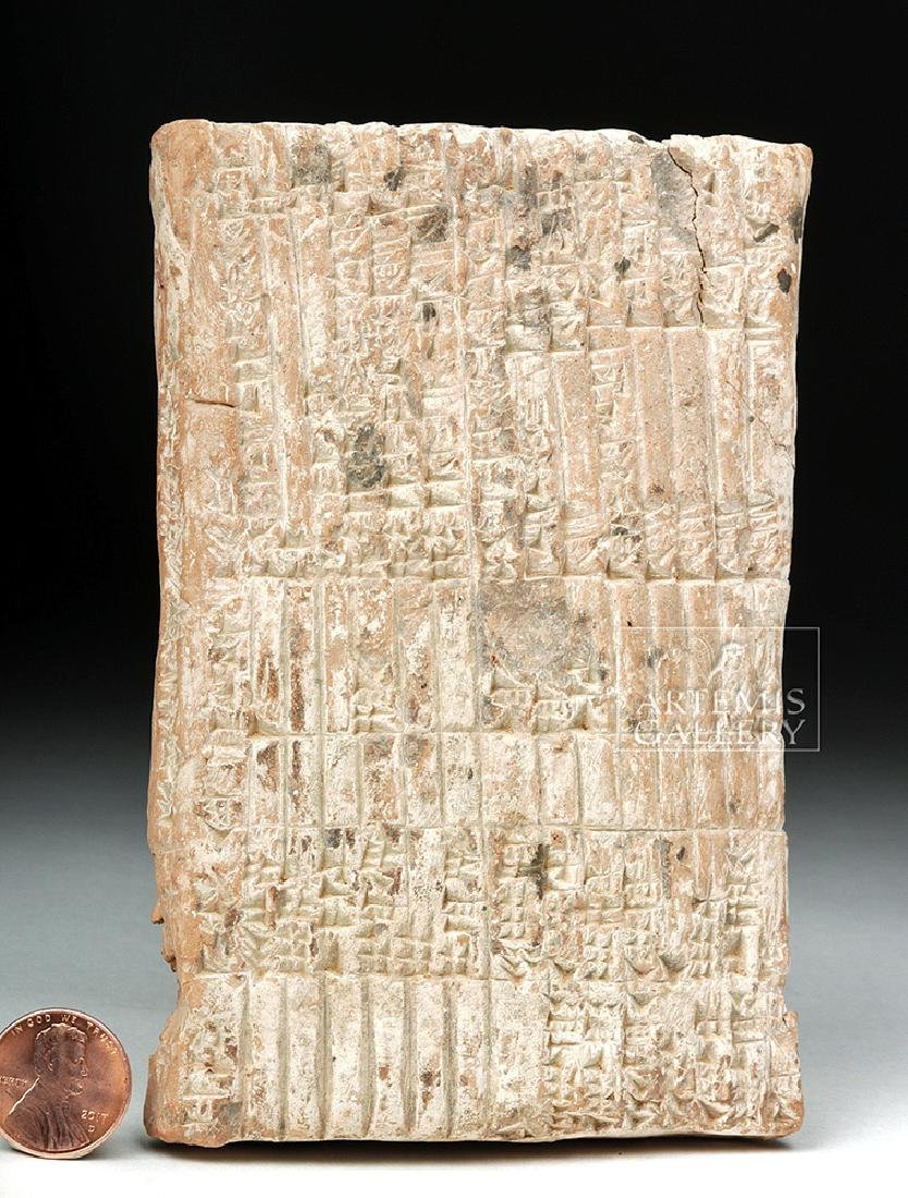 Translated Babylonian Cuneiform Administrative Tablet - 4