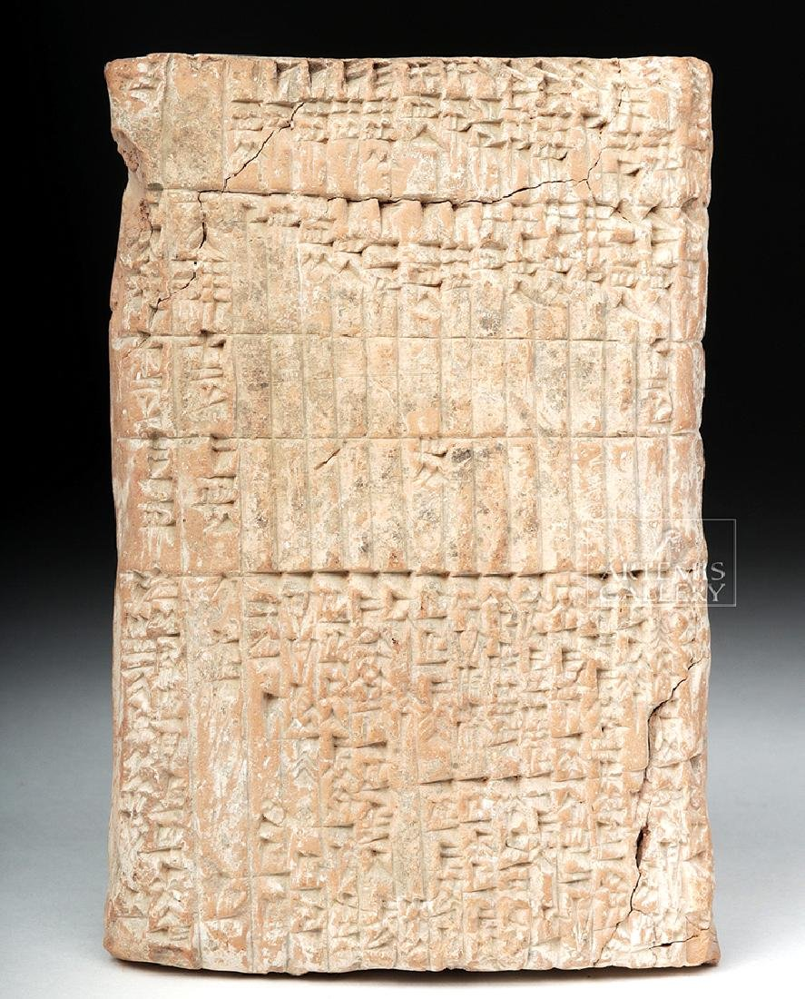Translated Babylonian Cuneiform Administrative Tablet - 5