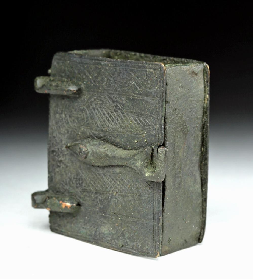Rare Sassanian Bronze Casket - 2