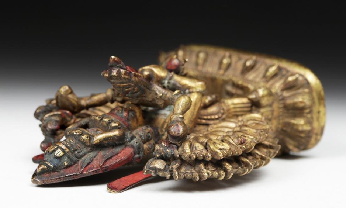18th C. Sino-Tibetan Gilt Bronze Yamantaka God - 7