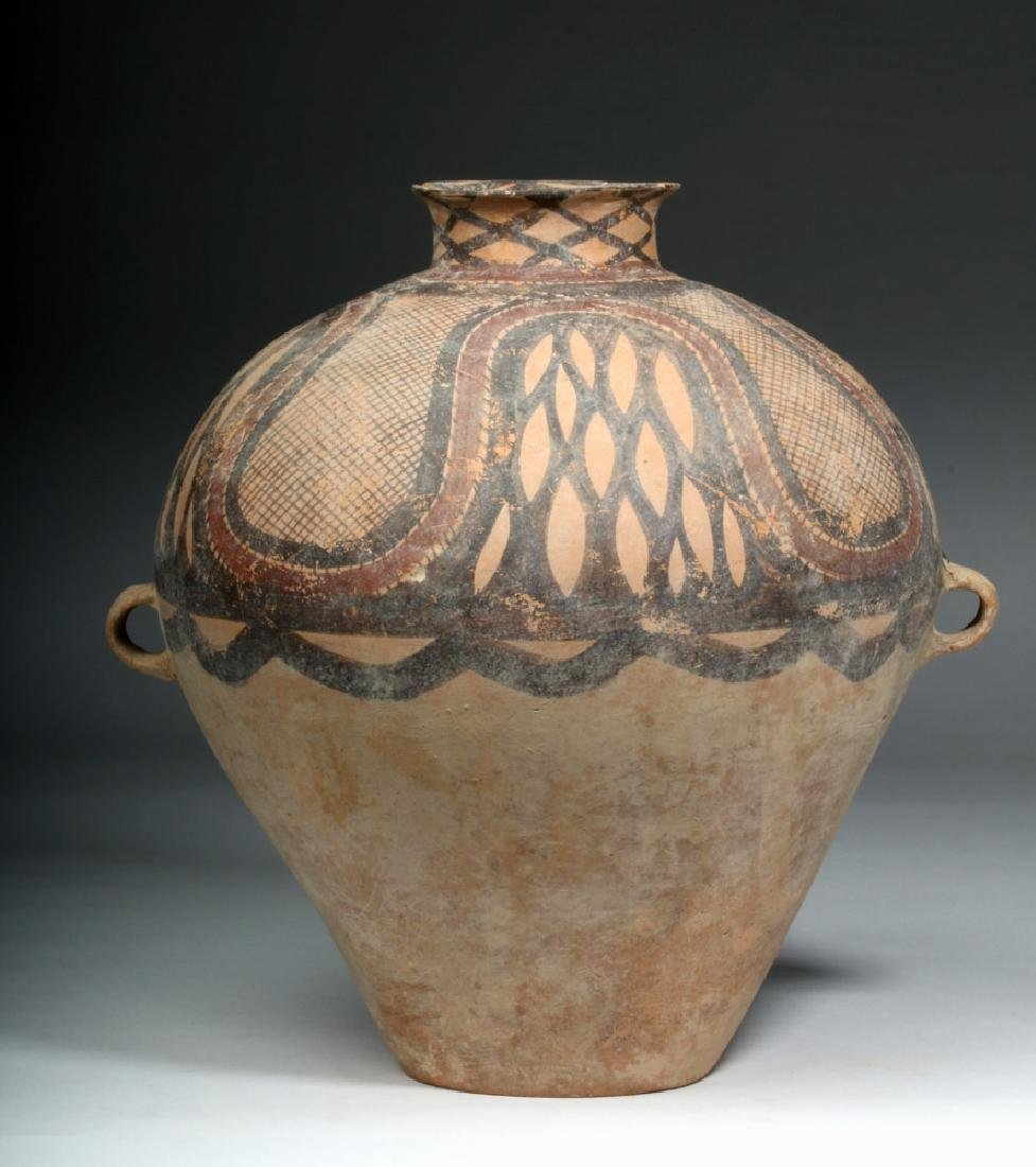 Large Chinese Neolithic Pottery Urn