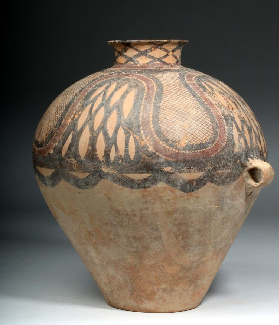 Large Chinese Neolithic Pottery Urn - 2
