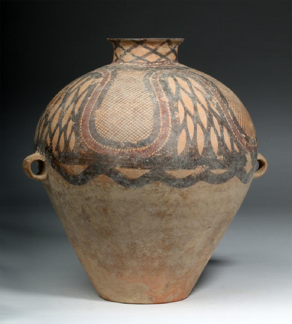 Large Chinese Neolithic Pottery Urn - 3