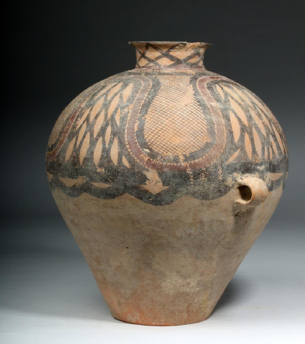Large Chinese Neolithic Pottery Urn - 4