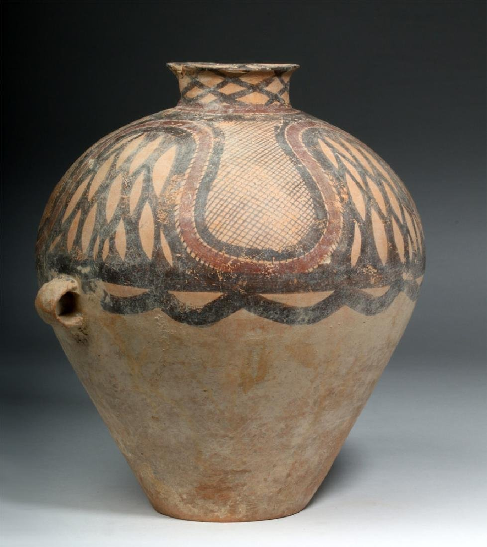 Large Chinese Neolithic Pottery Urn - 5