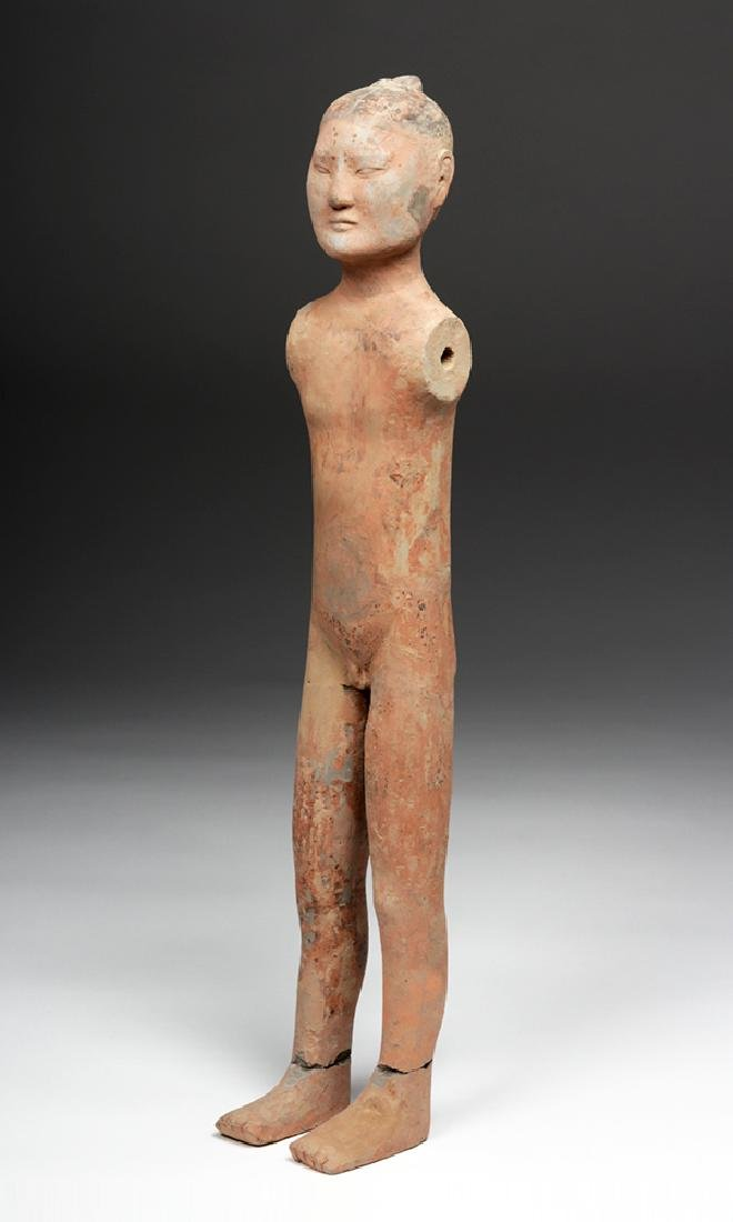 Tall Chinese Han Dynasty Pottery Stick Figure - 2