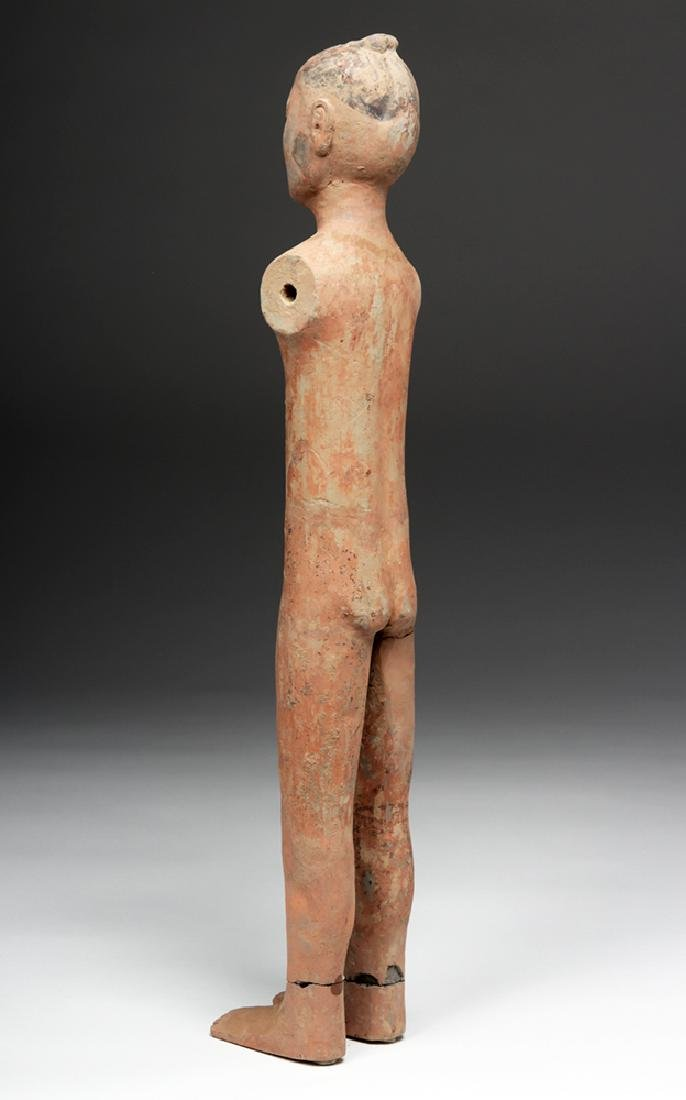Tall Chinese Han Dynasty Pottery Stick Figure - 3