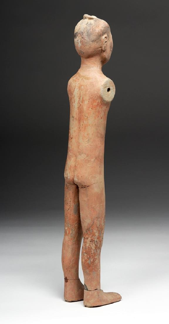 Tall Chinese Han Dynasty Pottery Stick Figure - 5