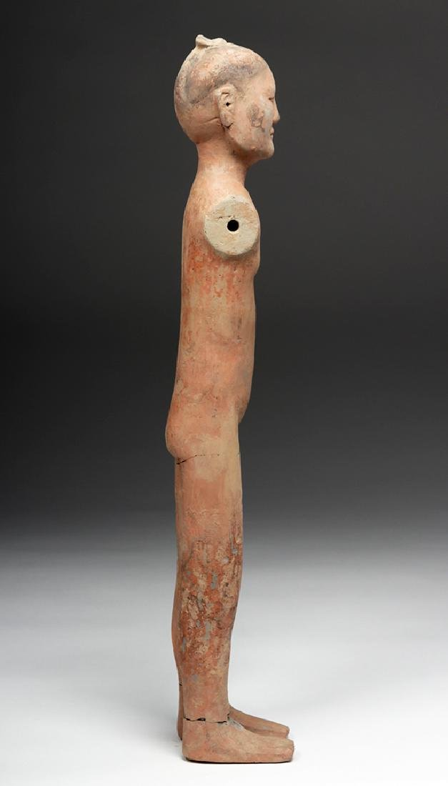 Tall Chinese Han Dynasty Pottery Stick Figure - 6