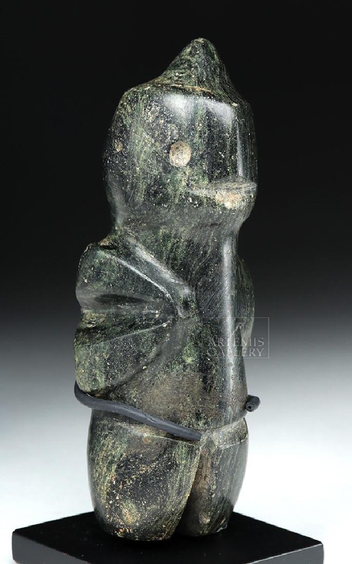 Guerrero Mezcala Greenstone Carving of a Bird Man