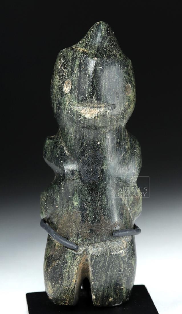 Guerrero Mezcala Greenstone Carving of a Bird Man - 2