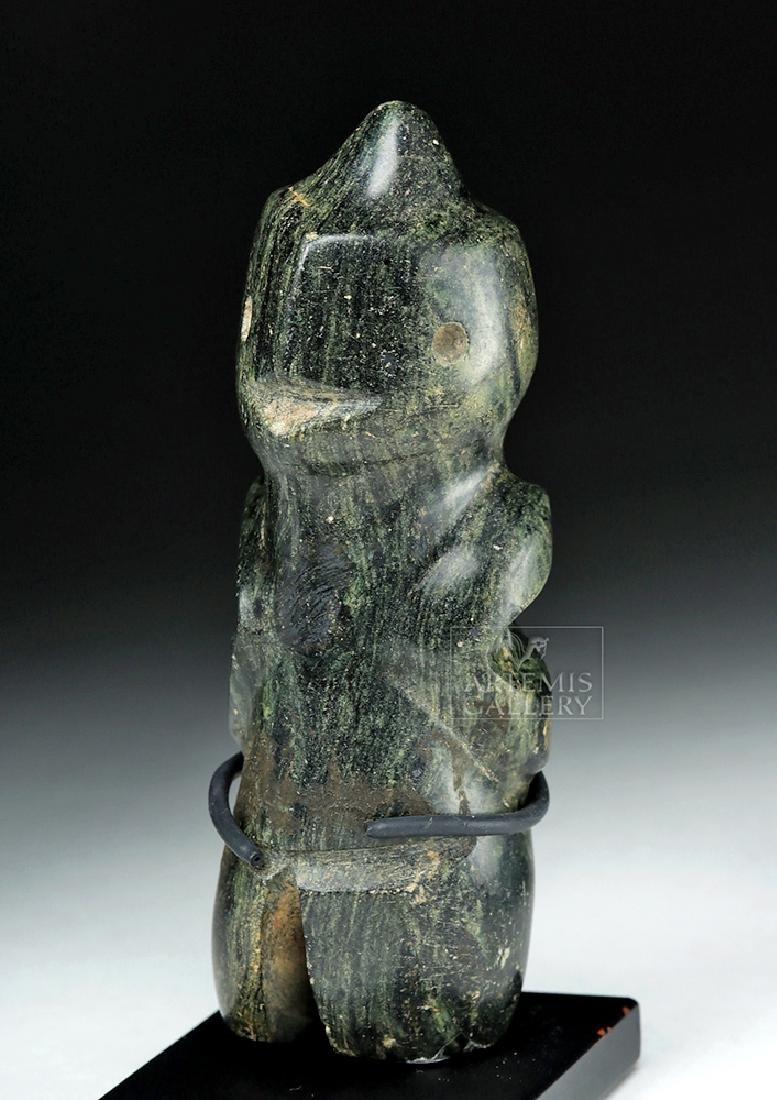 Guerrero Mezcala Greenstone Carving of a Bird Man - 5