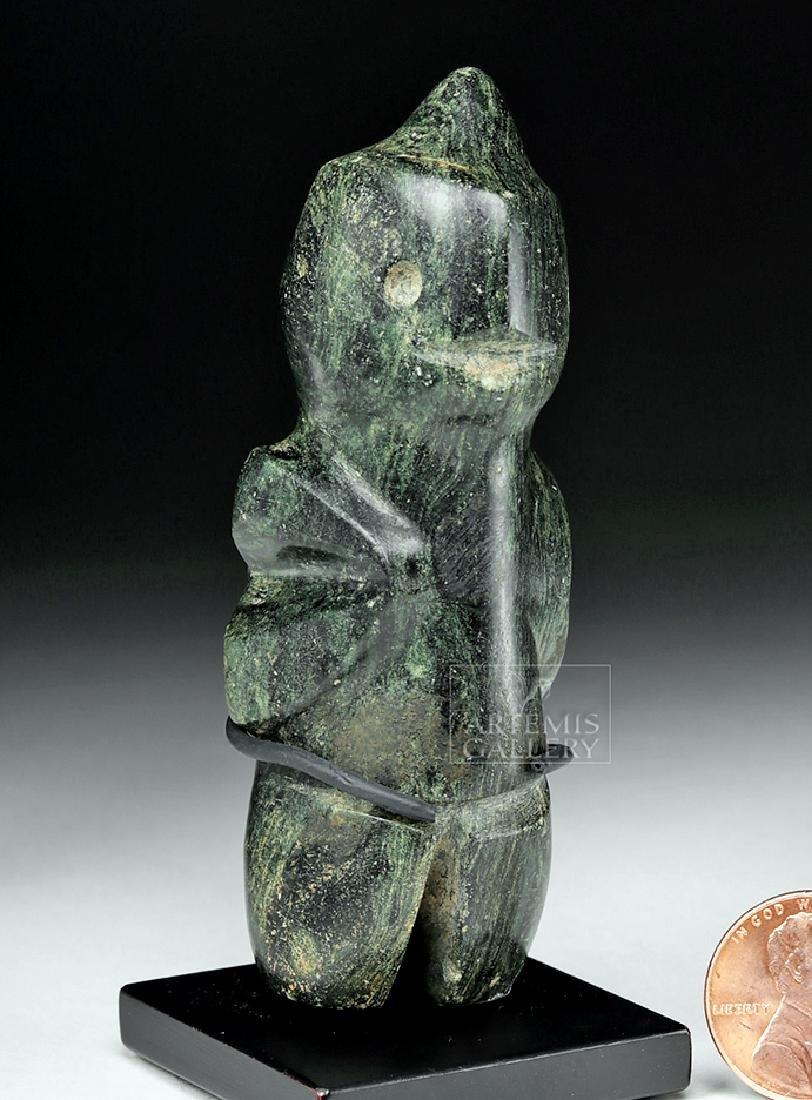 Guerrero Mezcala Greenstone Carving of a Bird Man - 6