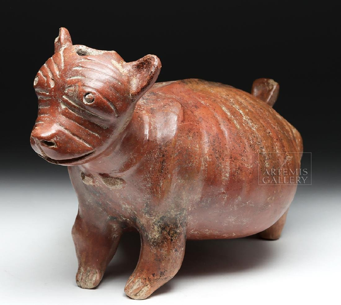 Nayarit Chinesco Pottery Redware Emaciated Dog Vessel