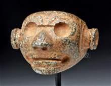 Costa Rican Disembodied Head Greenstone Mace