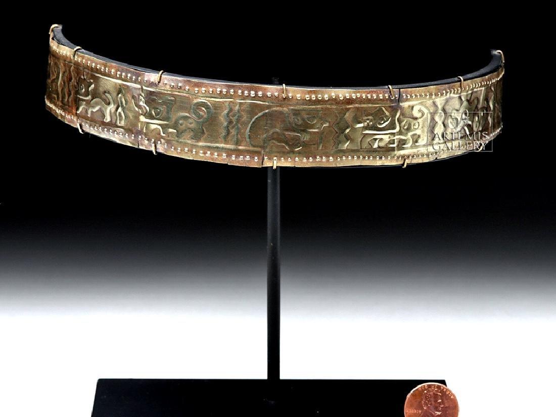 Sican 14K Gold Crown w/ Running Jaguars in Repousse - 7
