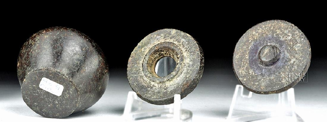 Egyptian Middle Kingdom Granodiorite Kohl Jar w/ Lid - 7