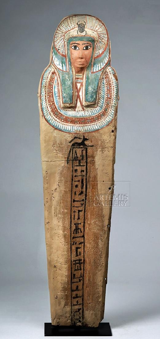 Egyptian 3rd Intermediate Period Wood Sarcophagus Cover