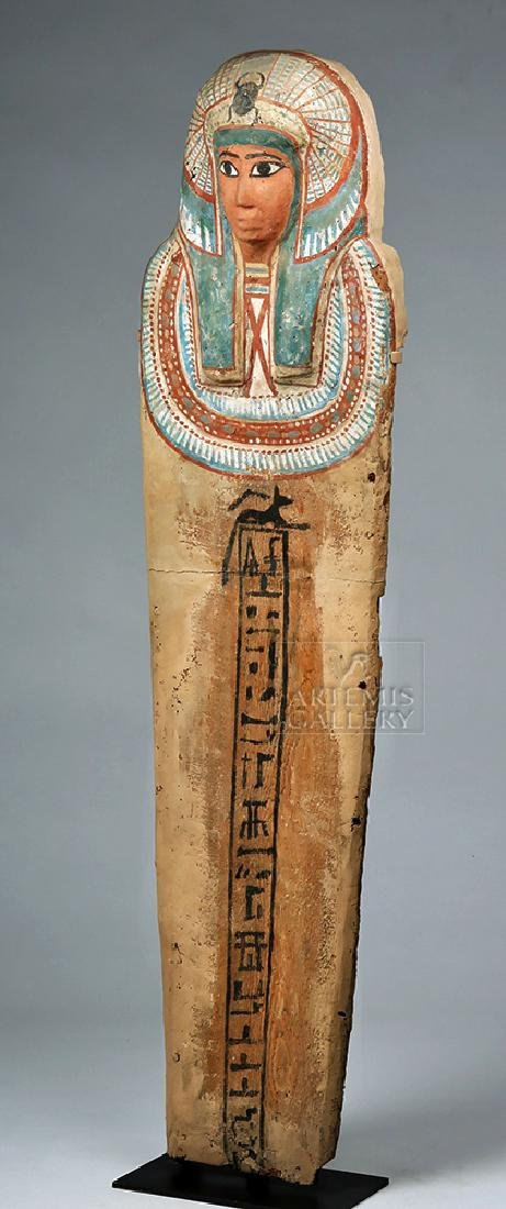 Egyptian 3rd Intermediate Period Wood Sarcophagus Cover - 2