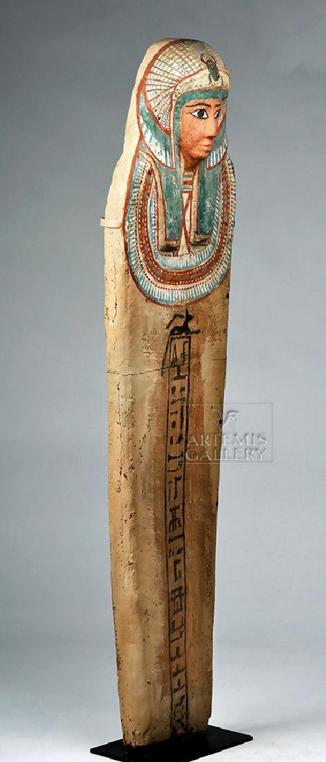 Egyptian 3rd Intermediate Period Wood Sarcophagus Cover - 3