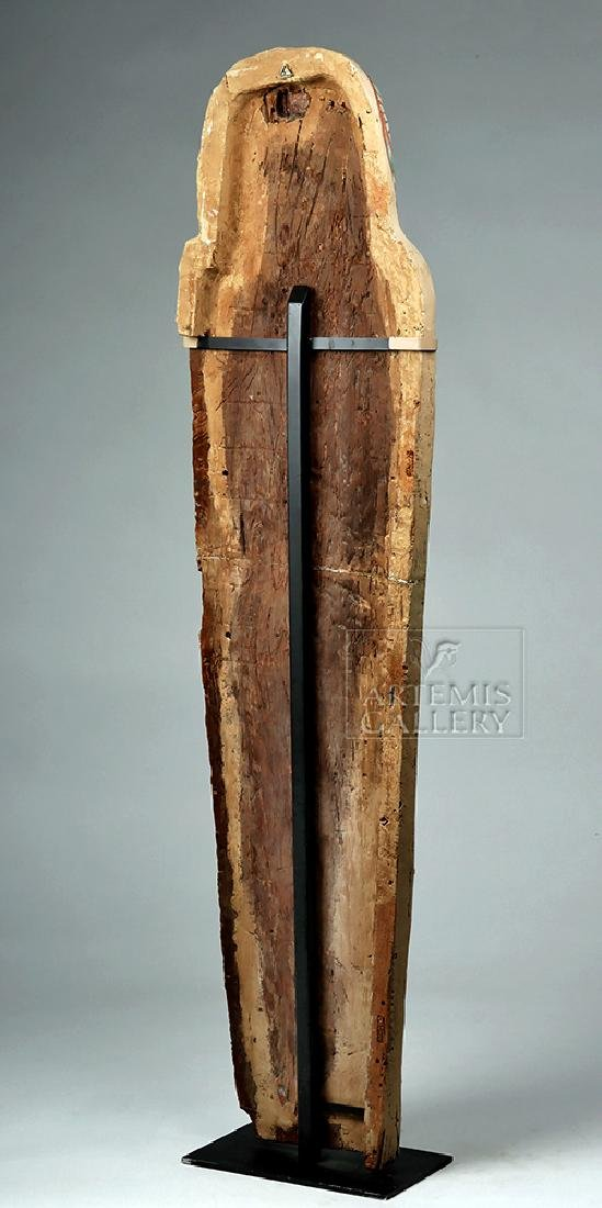 Egyptian 3rd Intermediate Period Wood Sarcophagus Cover - 4