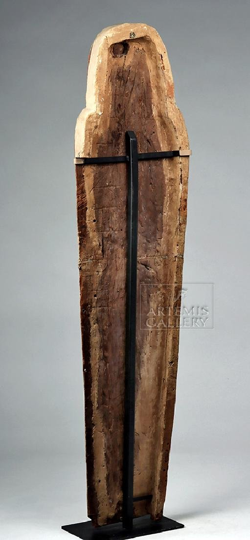 Egyptian 3rd Intermediate Period Wood Sarcophagus Cover - 5
