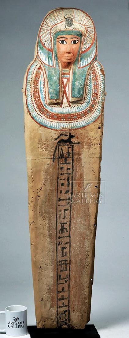 Egyptian 3rd Intermediate Period Wood Sarcophagus Cover - 6