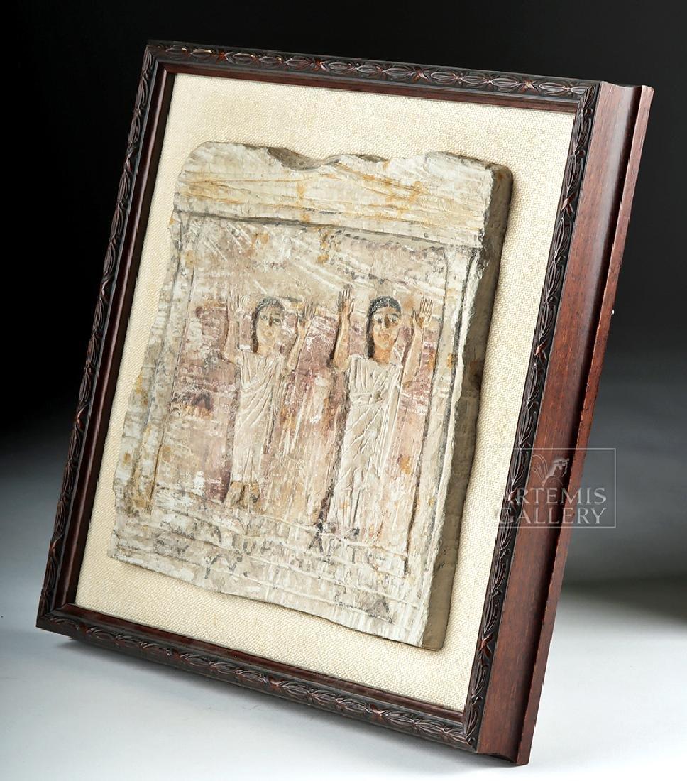 Egyptian Coptic Limestone Stele - 2