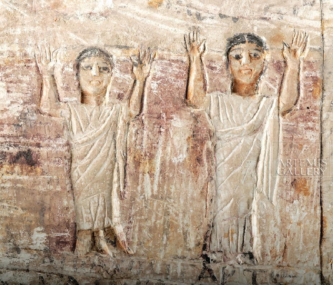 Egyptian Coptic Limestone Stele - 4