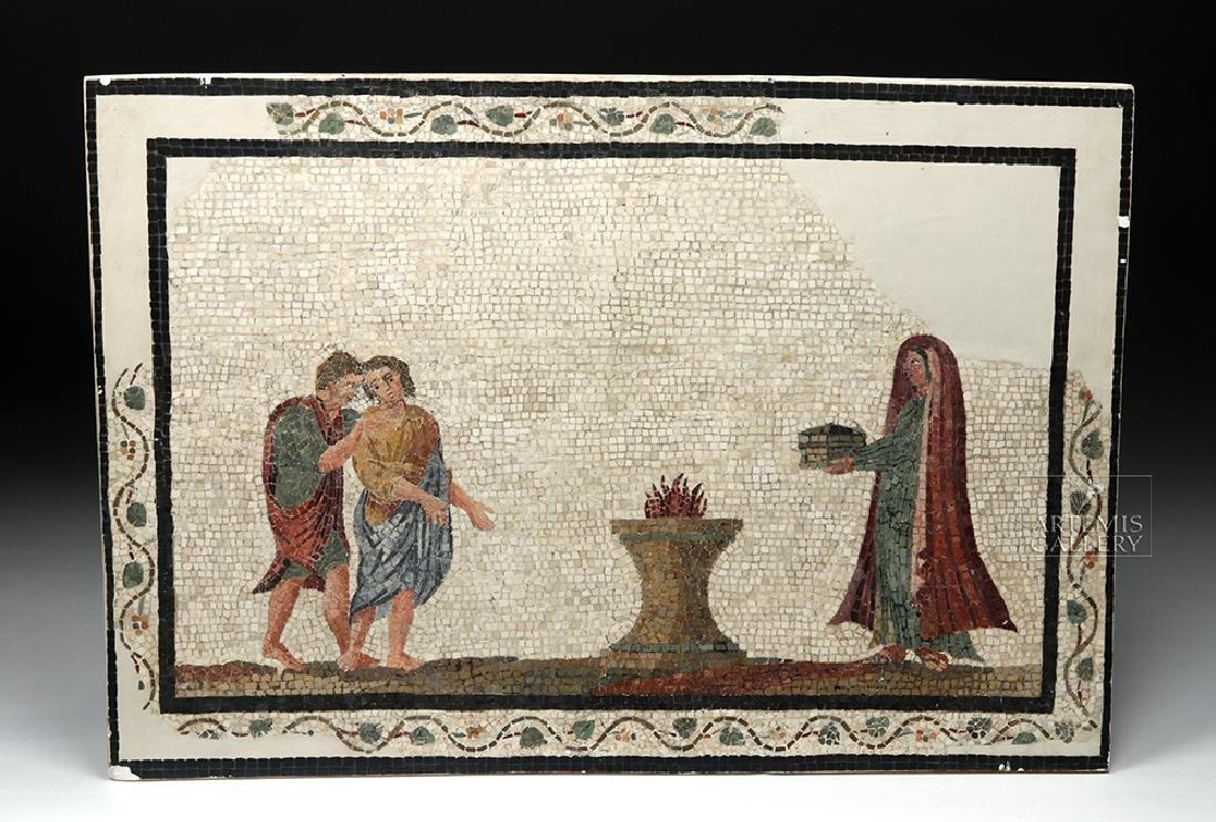 Roman Mosaic - Priestess Making Offering