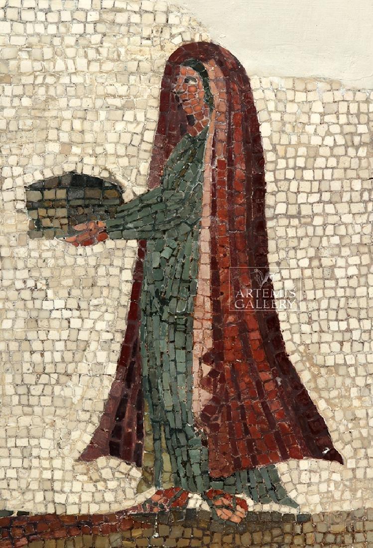 Roman Mosaic - Priestess Making Offering - 4