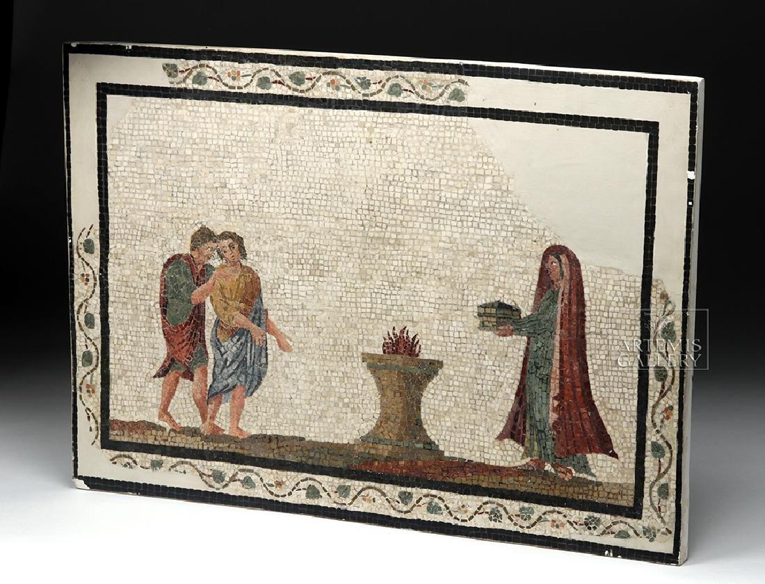 Roman Mosaic - Priestess Making Offering - 6