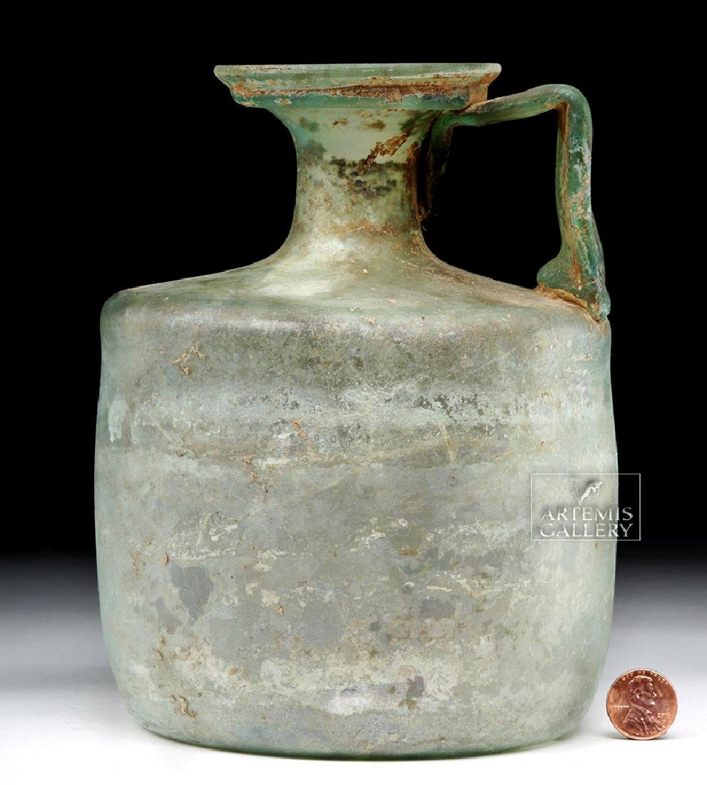 Large Roman Green Glass Jug - Probably Cologne