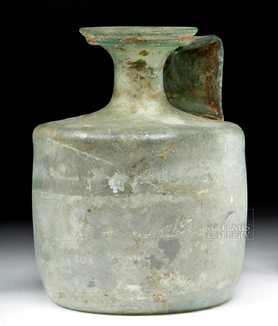 Large Roman Green Glass Jug - Probably Cologne - 2